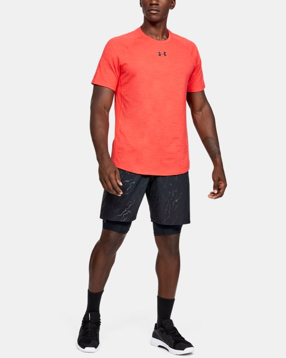 Men's HeatGear® Armour Extra Long Shorts, Black, pdpMainDesktop image number 0