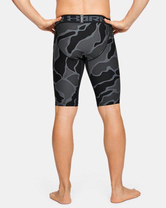Men's HeatGear® Armour Extra Long Printed Shorts, Black, pdpMainDesktop image number 3