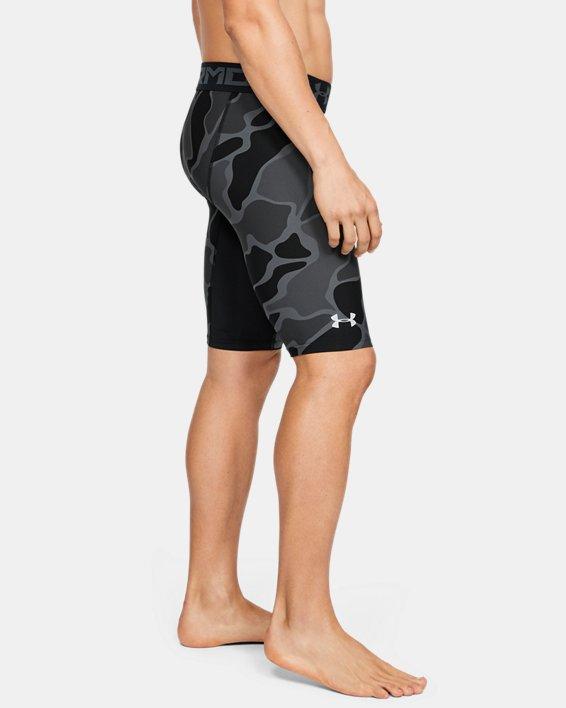 Men's HeatGear® Armour Extra Long Printed Shorts, Black, pdpMainDesktop image number 0