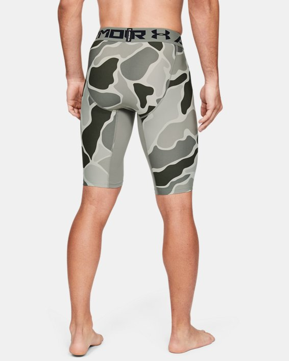 Short HeatGear® Armour Extra Long Printed pour homme, Green, pdpMainDesktop image number 3