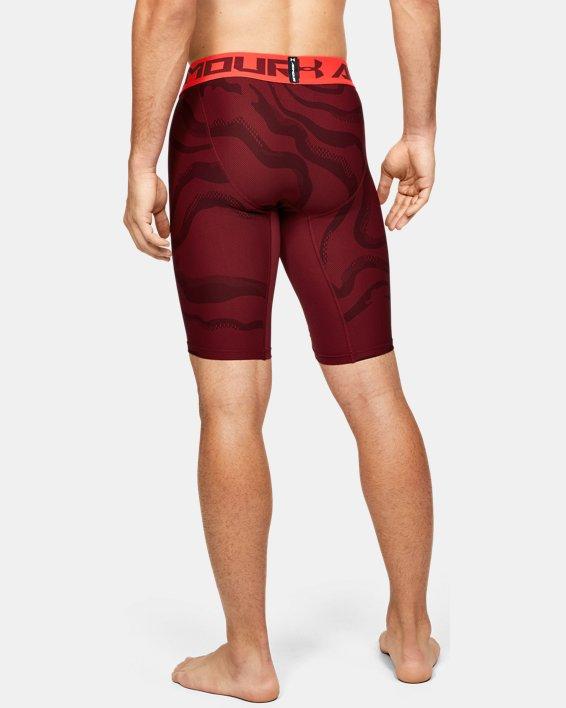 Men's HeatGear® Armour Extra Long Printed Shorts, Red, pdpMainDesktop image number 3