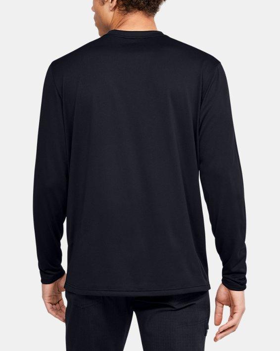 Men's UA Tactical V-Neck Long Sleeve, Black, pdpMainDesktop image number 2