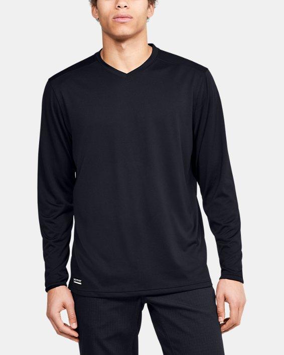 Men's UA Tactical V-Neck Long Sleeve, Black, pdpMainDesktop image number 0
