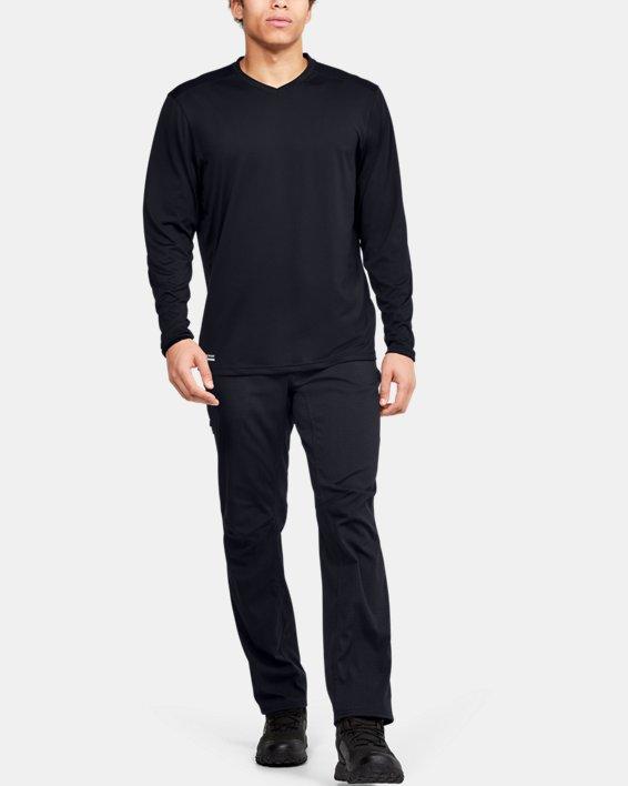 Men's UA Tactical V-Neck Long Sleeve, Black, pdpMainDesktop image number 1