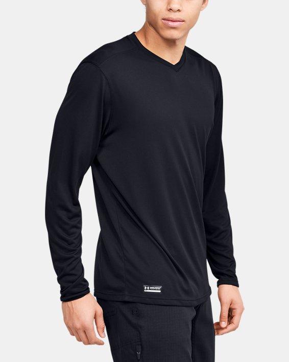 Men's UA Tactical V-Neck Long Sleeve, Black, pdpMainDesktop image number 3