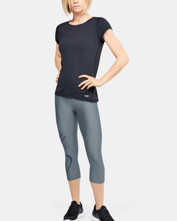 Women's HeatGear® Armour Graphic Capri, Green, pdpMainDesktop image number 1