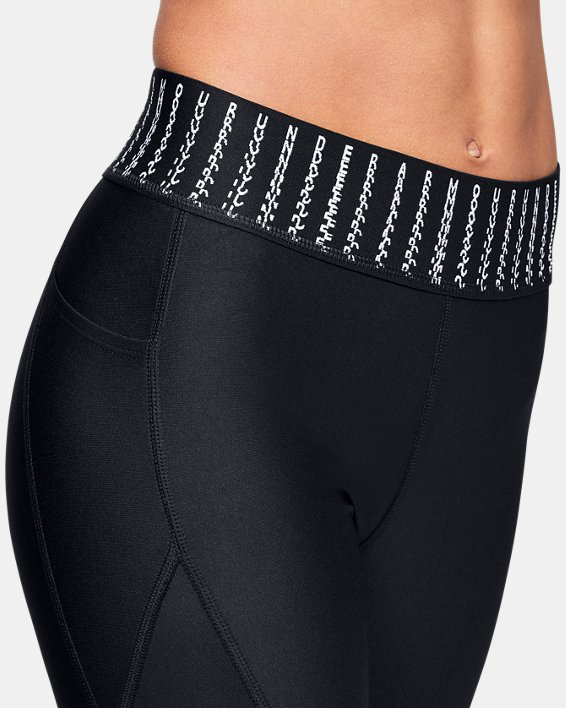 Women's HeatGear® Armour 6M Ankle Crop, Black, pdpMainDesktop image number 6