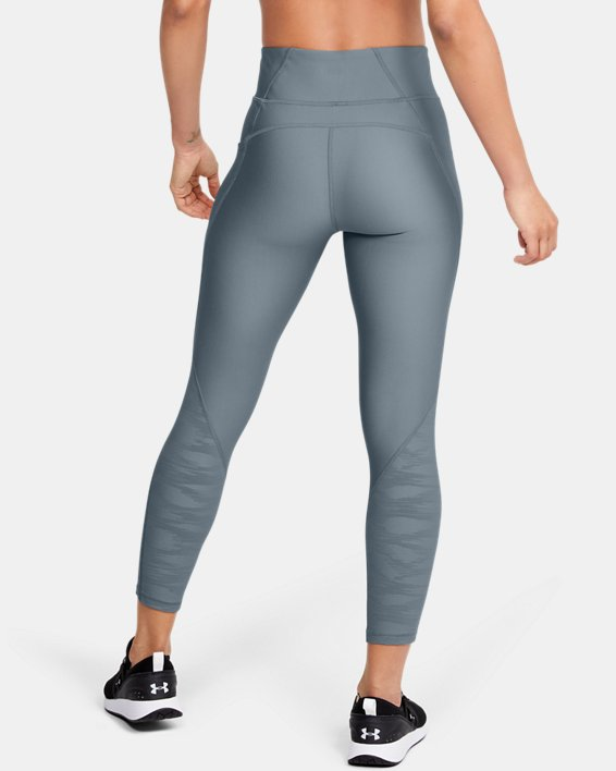 Women's HeatGear® Armour C&S Jacquard Ankle Crop, Green, pdpMainDesktop image number 2