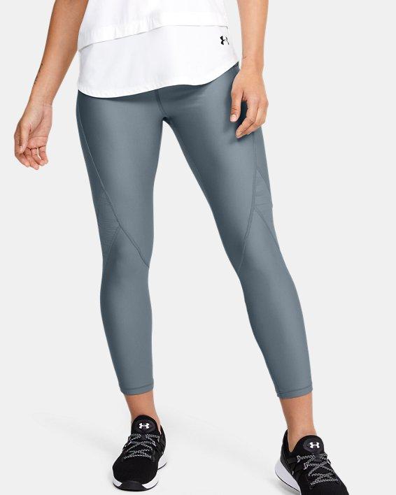 Women's HeatGear® Armour C&S Jacquard Ankle Crop, Green, pdpMainDesktop image number 0