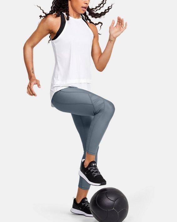 Women's HeatGear® Armour C&S Jacquard Ankle Crop, Green, pdpMainDesktop image number 1