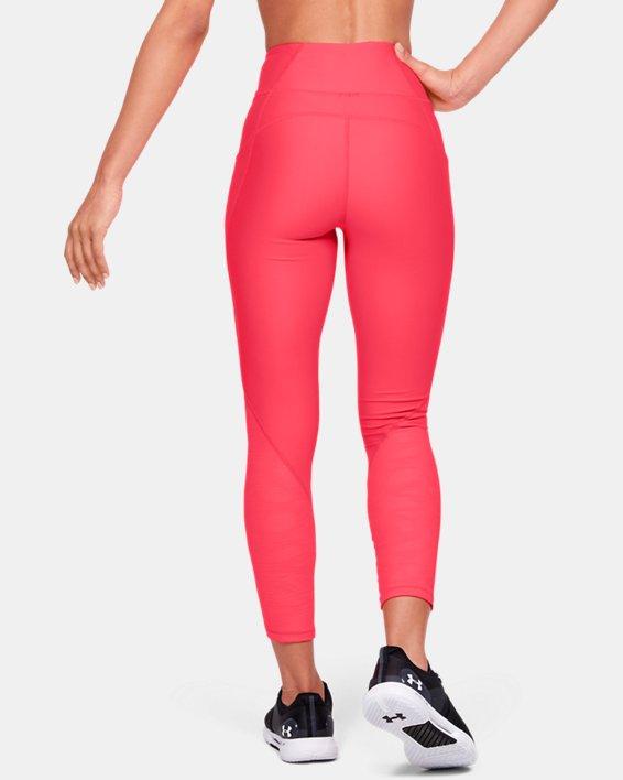 Women's HeatGear® Armour C&S Jacquard Ankle Crop, Red, pdpMainDesktop image number 2