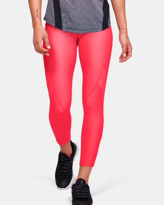 Women's HeatGear® Armour C&S Jacquard Ankle Crop, Red, pdpMainDesktop image number 0