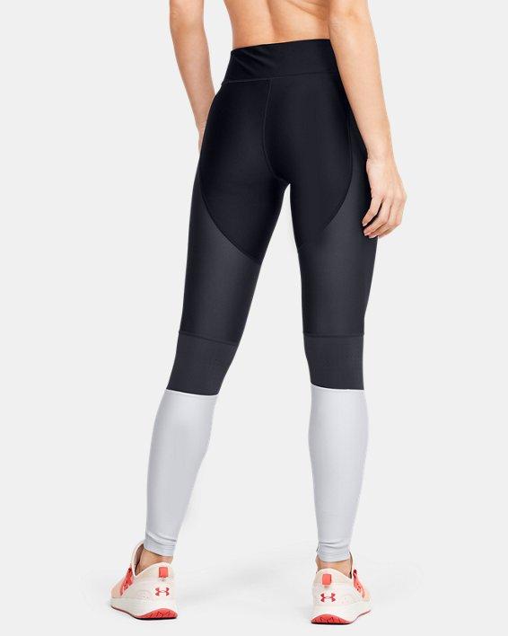 Women's HeatGear® Armour Perf Inset Graphic Leggings, Black, pdpMainDesktop image number 2