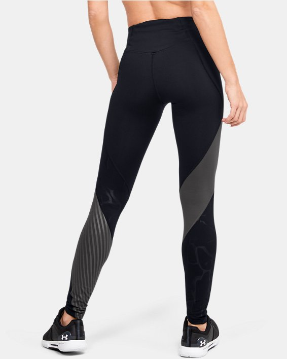 Legging UA RUSH™ Embossed pour femme, Black, pdpMainDesktop image number 2