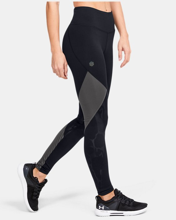 Legging UA RUSH™ Embossed pour femme, Black, pdpMainDesktop image number 3