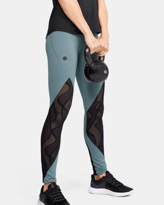 Women's UA RUSH™ Vent Leggings, Green, pdpMainDesktop image number 0