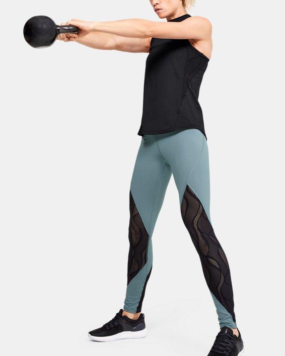 Women's UA RUSH™ Vent Leggings, Green, pdpMainDesktop image number 1