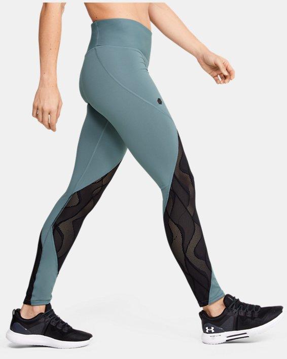 Women's UA RUSH™ Vent Leggings, Green, pdpMainDesktop image number 3