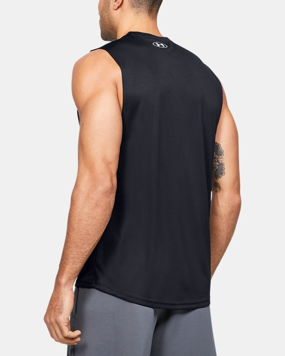 Men's UA Velocity Graphic Muscle Tank, Black, pdpMainDesktop image number 2