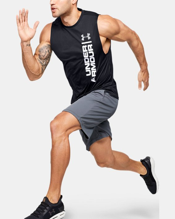 Men's UA Velocity Graphic Muscle Tank, Black, pdpMainDesktop image number 1