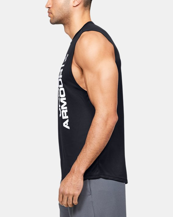 Men's UA Velocity Graphic Muscle Tank, Black, pdpMainDesktop image number 3