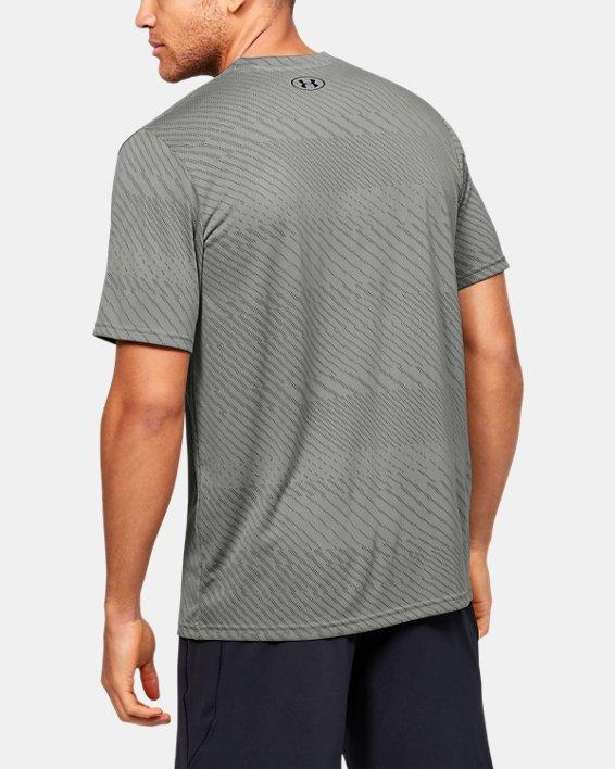 Men's UA Velocity Jacquard V-Neck Short Sleeve, Green, pdpMainDesktop image number 2