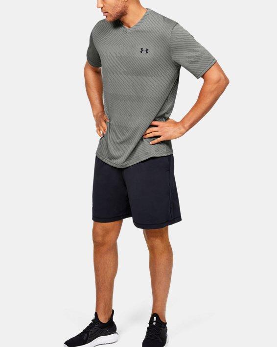 Men's UA Velocity Jacquard V-Neck Short Sleeve, Green, pdpMainDesktop image number 1