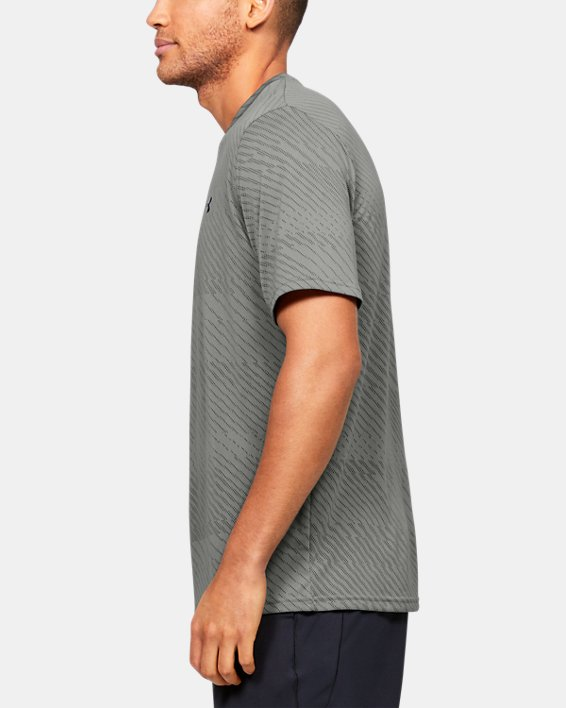 Men's UA Velocity Jacquard V-Neck Short Sleeve, Green, pdpMainDesktop image number 3