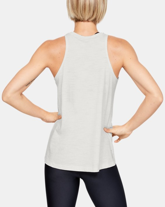 Women's Charged Cotton® Adjustable Tank, White, pdpMainDesktop image number 2