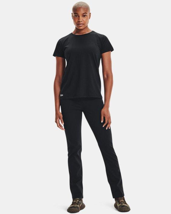 Women's UA Tactical Cotton T-Shirt, Black, pdpMainDesktop image number 1