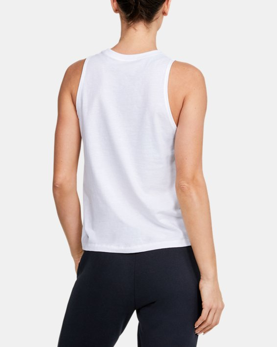 Women's UA Graphic Muscle Tank, White, pdpMainDesktop image number 2