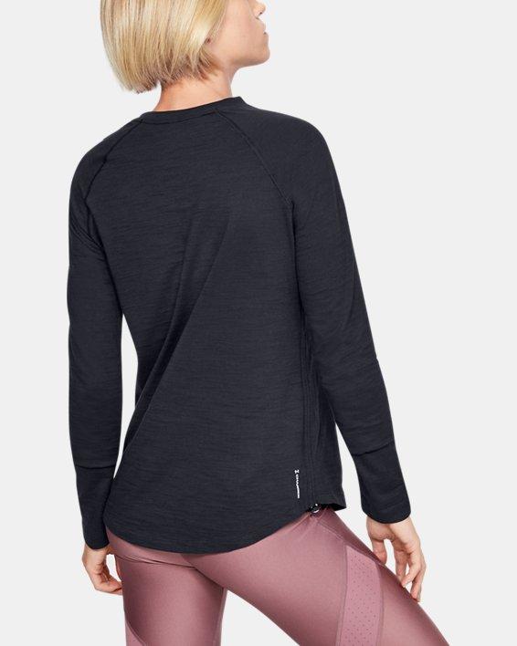 Women's Charged Cotton® Adjustable Long Sleeve, Black, pdpMainDesktop image number 0