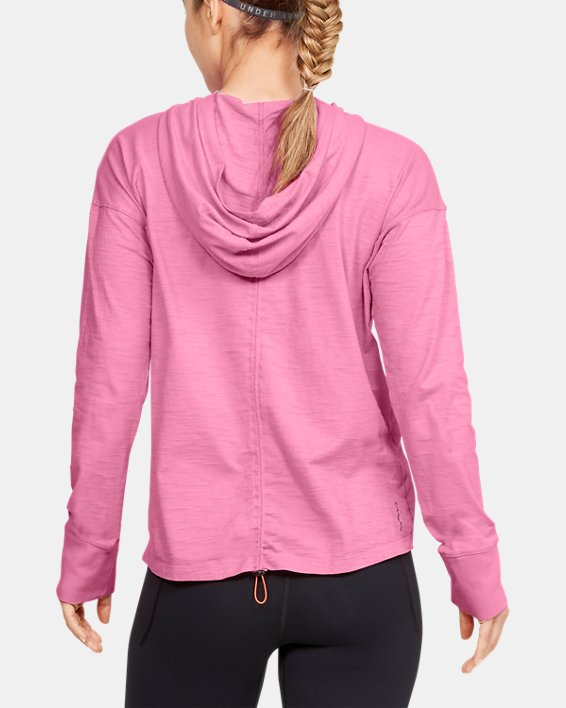 Women's Charged Cotton® Adjustable Hoodie, Pink, pdpMainDesktop image number 2