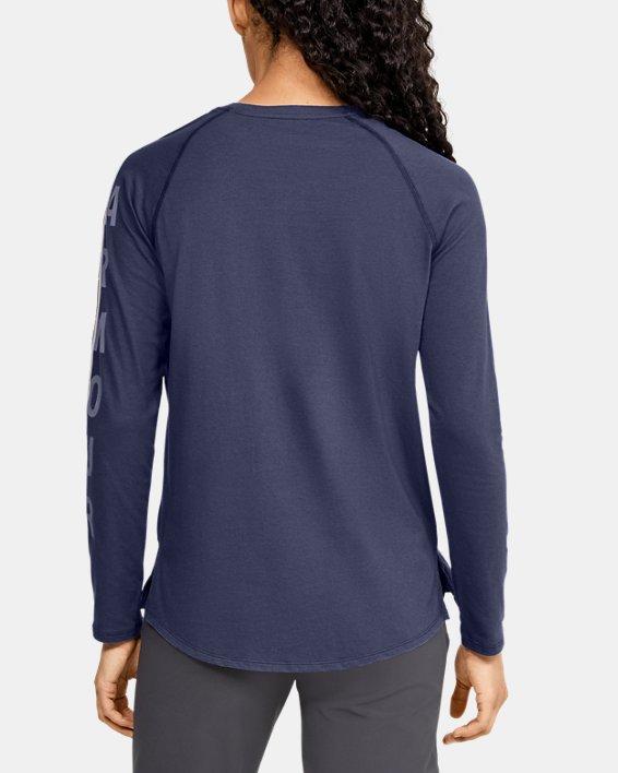 Women's UA Graphic Long Sleeve, Blue, pdpMainDesktop image number 3