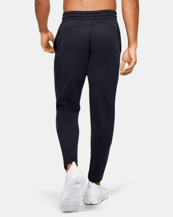 Men's UA Tech™ Terry Tapered Pants, Black, pdpMainDesktop image number 2