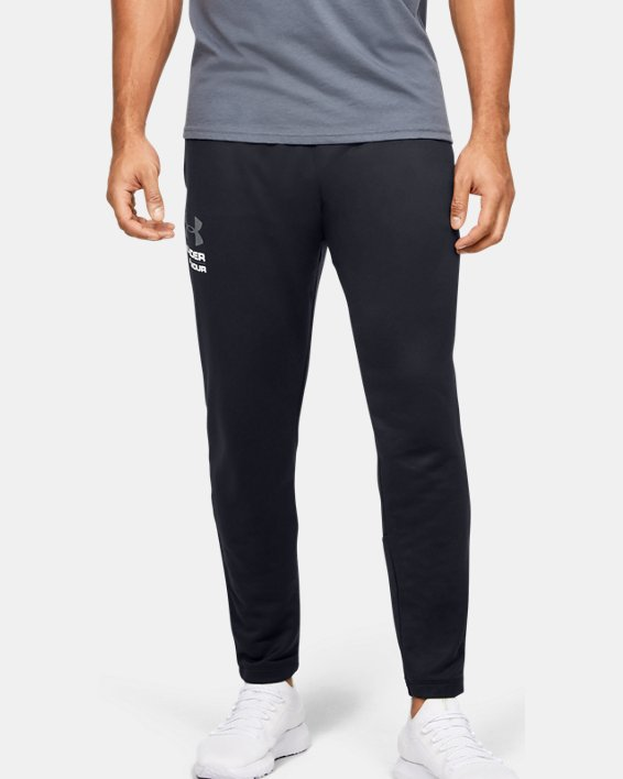 Men's UA Tech™ Terry Tapered Pants, Black, pdpMainDesktop image number 0