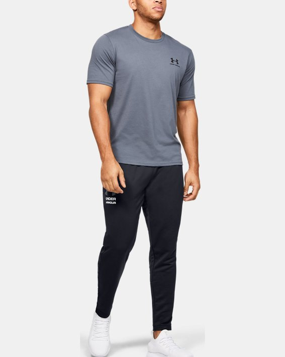 Men's UA Tech™ Terry Tapered Pants, Black, pdpMainDesktop image number 1