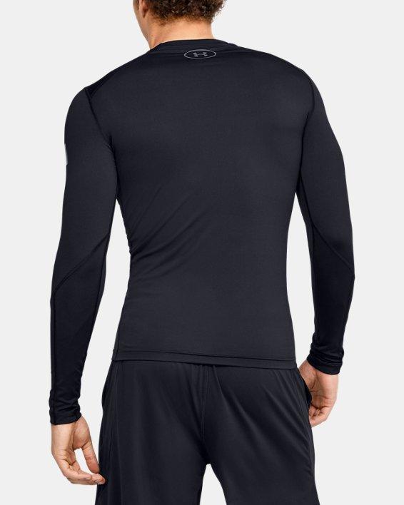 Men's HeatGear® Armour Long Sleeve, Black, pdpMainDesktop image number 2