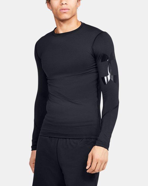 Men's HeatGear® Armour Long Sleeve, Black, pdpMainDesktop image number 0