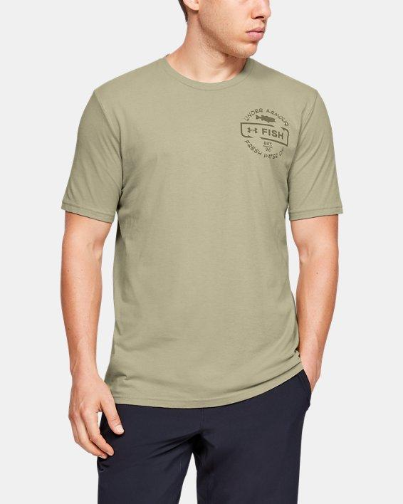 Men's UA Freshwater Division T-Shirt, Brown, pdpMainDesktop image number 2
