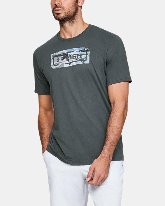 Men's UA Inline Camo Fill T-Shirt, Gray, pdpMainDesktop image number 0