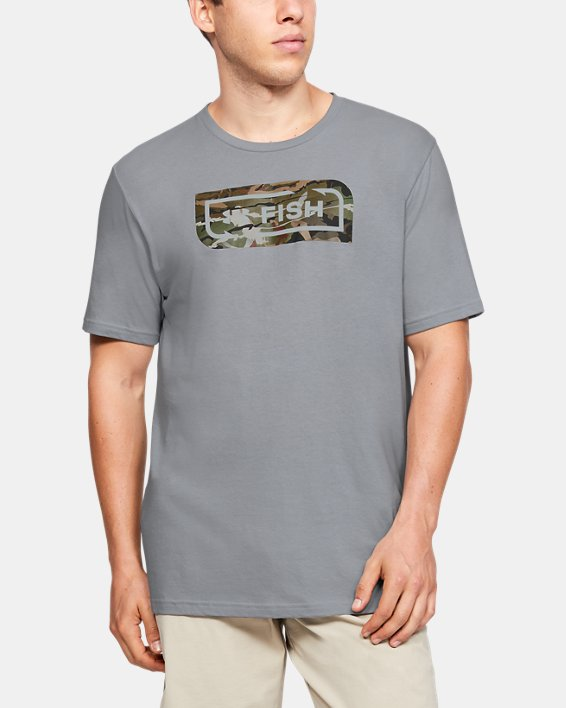 Men's UA Inline Camo Fill T-Shirt, Gray, pdpMainDesktop image number 0
