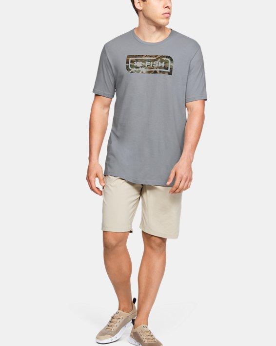 Men's UA Inline Camo Fill T-Shirt, Gray, pdpMainDesktop image number 1