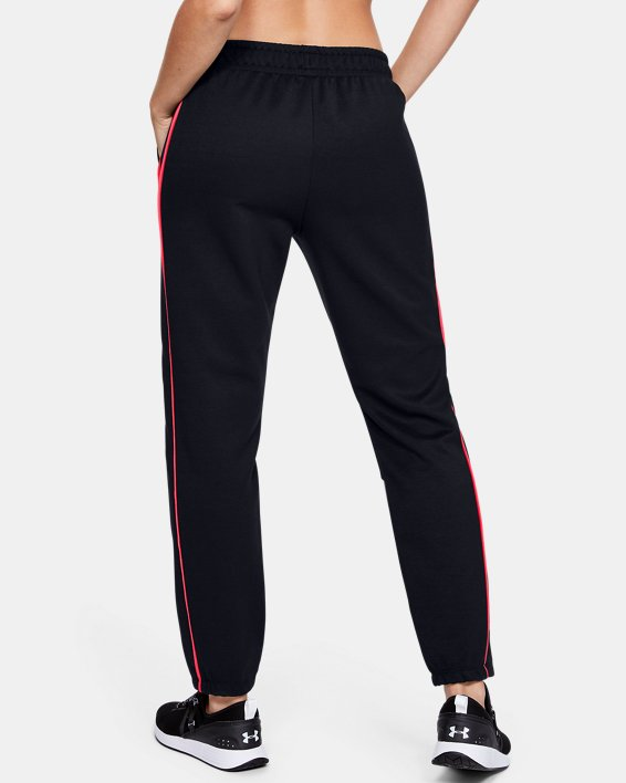 Women's UA Double Knit Pants, Black, pdpMainDesktop image number 3