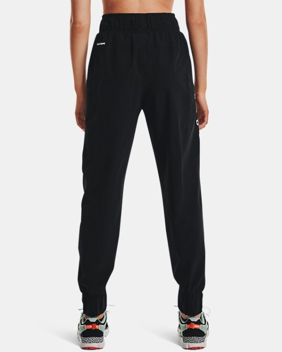 Women's UA Woven Branded Pants, Black, pdpMainDesktop image number 2