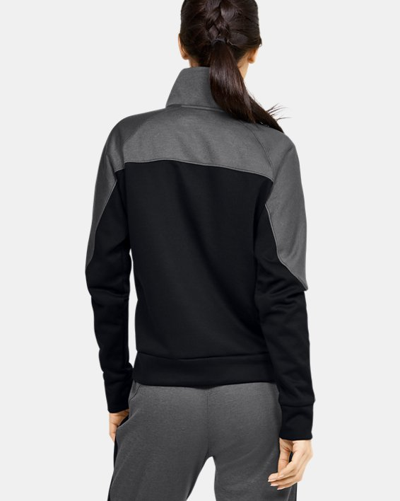 Women's UA RECOVER™ Knit ½ Zip, Black, pdpMainDesktop image number 2