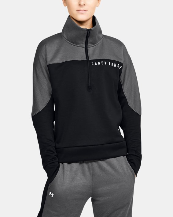 Women's UA RECOVER™ Knit ½ Zip, Black, pdpMainDesktop image number 0