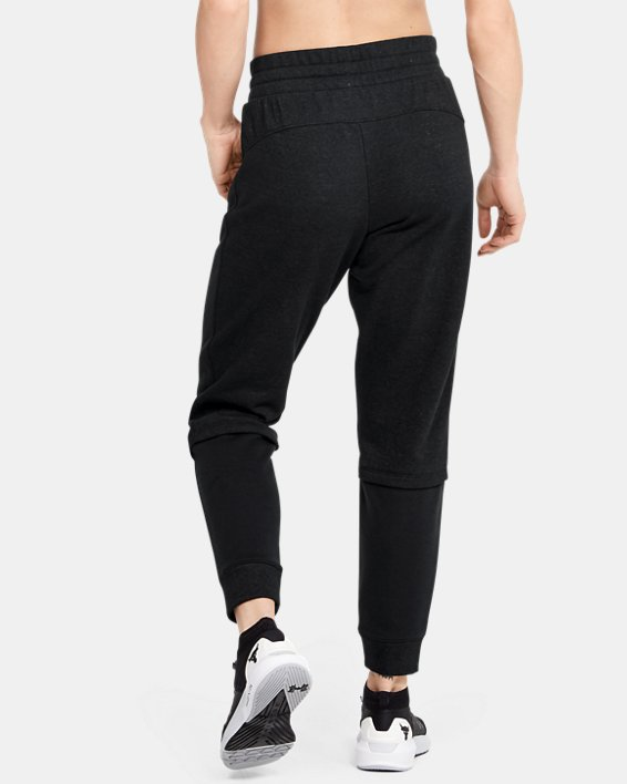 Women's Project Rock Terry Joggers, Black, pdpMainDesktop image number 2