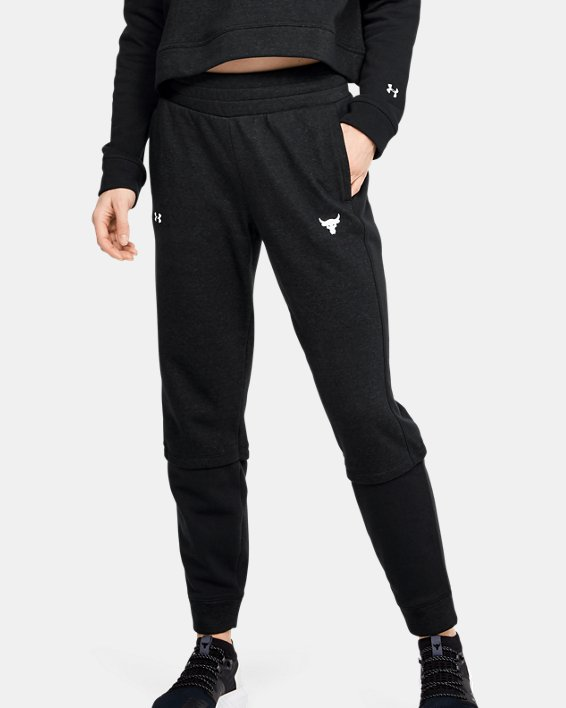 Women's Project Rock Terry Joggers, Black, pdpMainDesktop image number 1