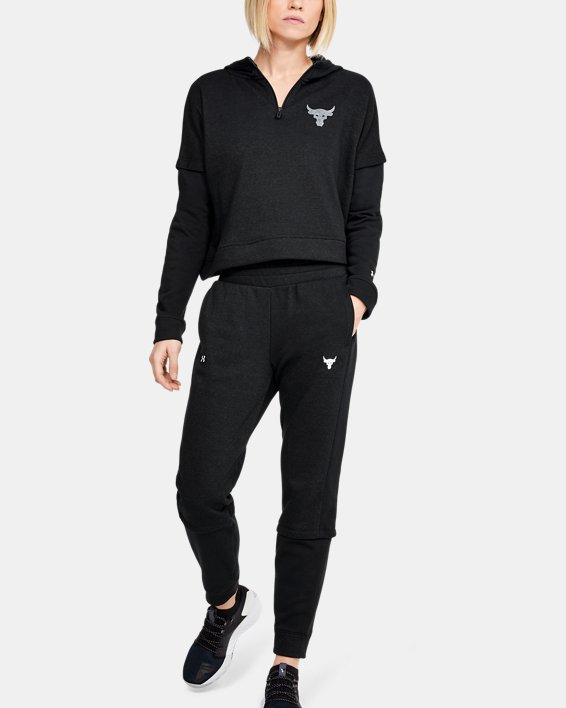 Women's Project Rock Terry Joggers, Black, pdpMainDesktop image number 0